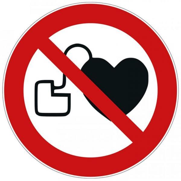 Verbotsschild P007 Herzschrittmacher, D=200 mm