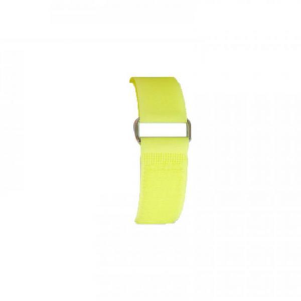 Klettband 70 cm, gelb, Metallschnalle