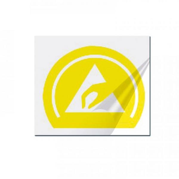 EP0601010 Trockentransferetikett gelb-transparent