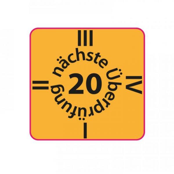 Check-up label 2020 orange