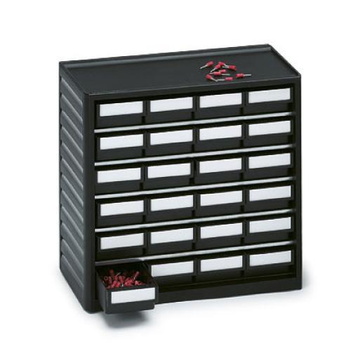EP0803016 ESD-Kleinteilemagazin 24 Schubladen H 40mm
