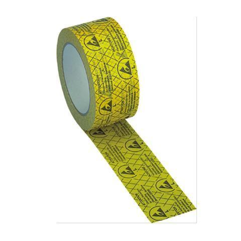EP0603001 ESD-Klebeband aus reissfestem Papier gelb 50 m