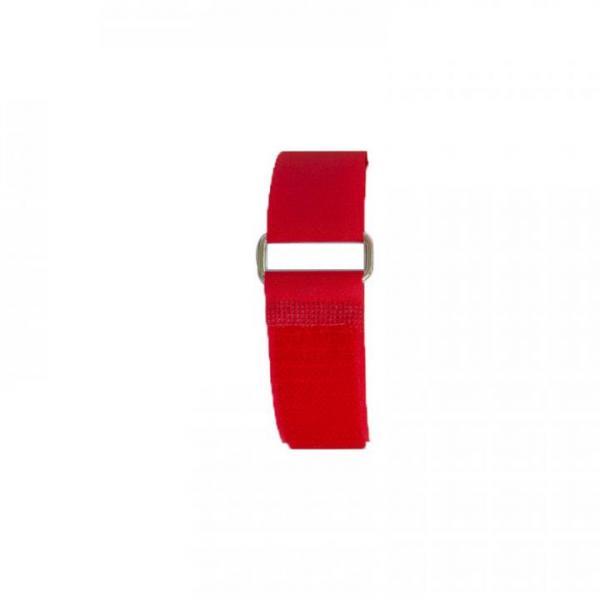 Klettband 70 cm, rot, Metallschnalle