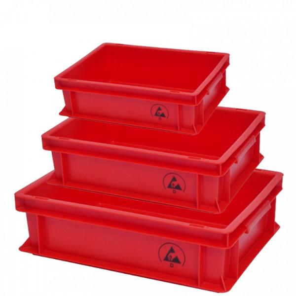 Ableitfähiger Lagerbehälter, IDP, Rot