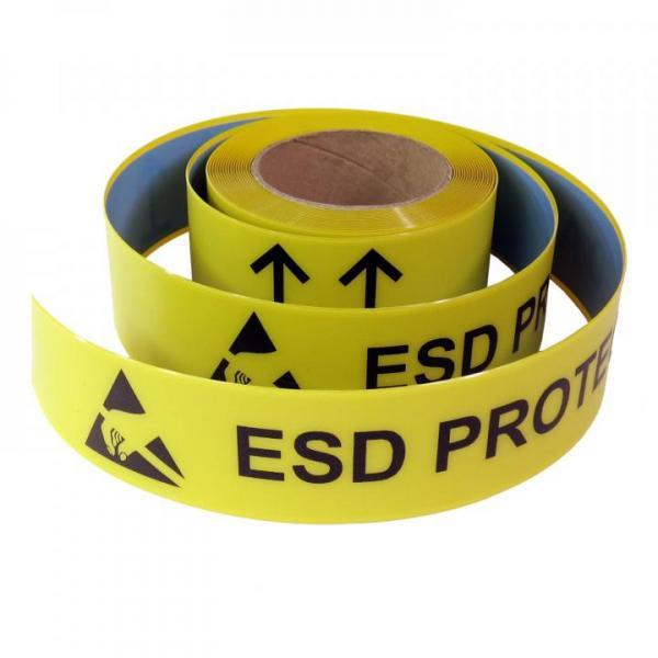 EP0603042 EPA-Bodenmarkierungsband EP-Supreme V Aufdruck: ESD PROTECTED AREA extrem robust, selbstklebend mit starker Klebekraft,