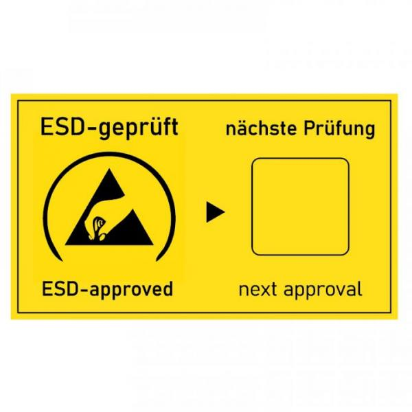 ESD-follow-up test label