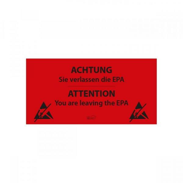 EPA-exit sign, self-adhesive, DE-EN