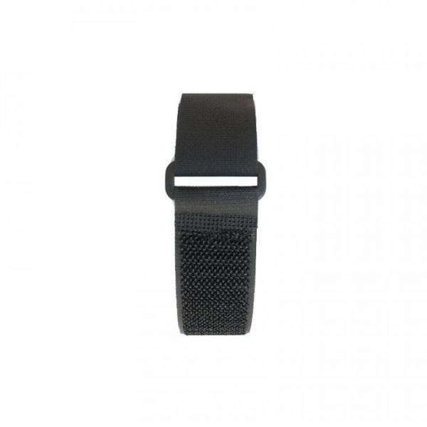 Klettband 60 cm, schwarz, Plastikschnalle