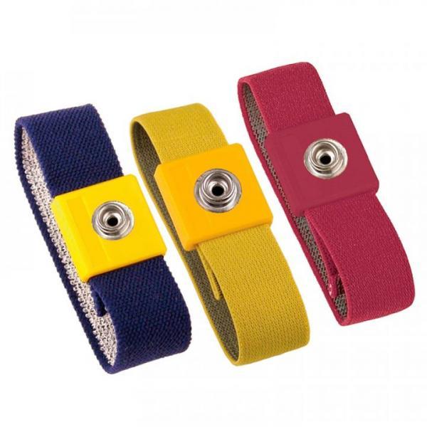 EP0105008 ESD-Erdungsarmband anti-allergisch Farbvarianten blau, gelb, rot