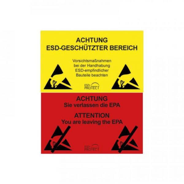 EP0601042 EPA-Warnschild und Ausgang DE und DE-EN 500x300