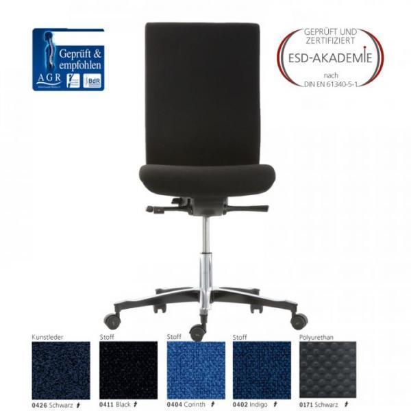 ESD-swivel chair ERGO QUADRA BS2