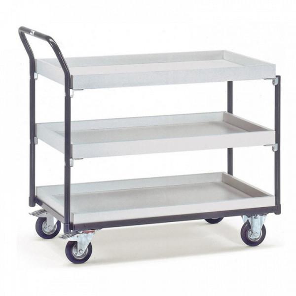 ESD-Tischwagen mitt 3 Kästen
