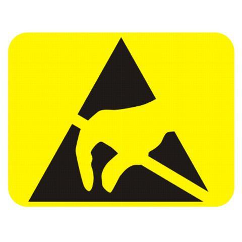 Etiketten ESD-Logo, 7 x 9 mm