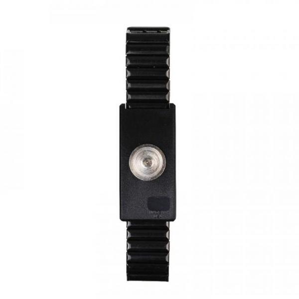 EP0105028 ESD-Erdungsarmband Metall mit Magnetanschluss aus Edelstahl - schwarz