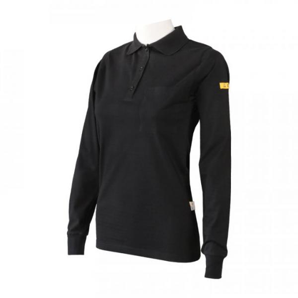 PROTEX® ESD-polo shirt, tapered, long sleeve