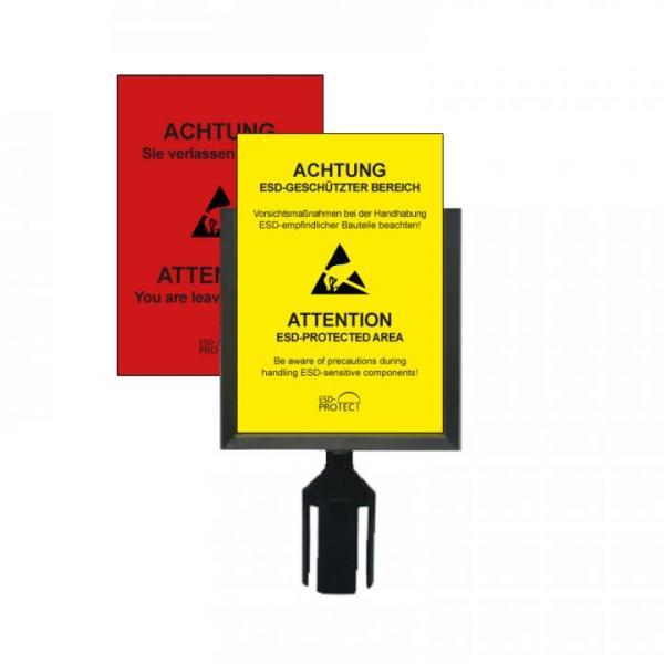 Schildhalter für EPA Absperrpfosten