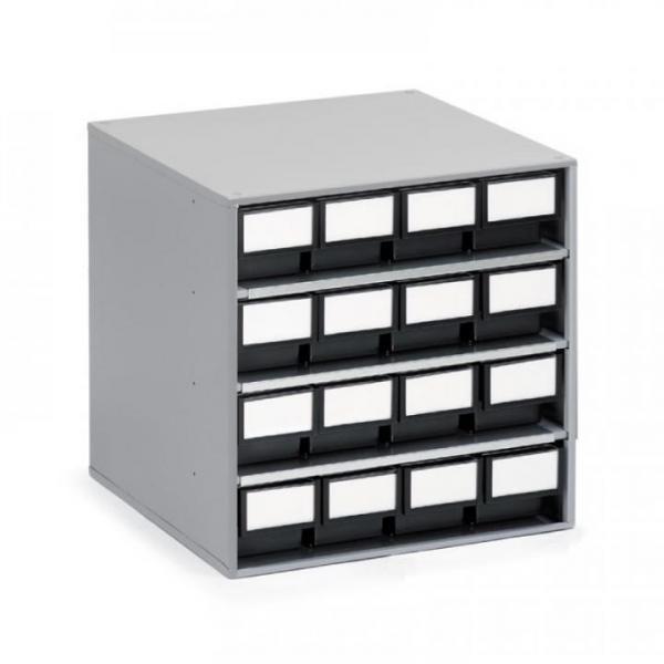 ESD-Schubladenmagazin, 16 Schubladen, T=400mm