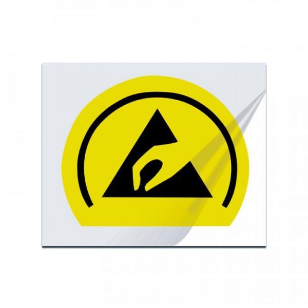 Trockentransferetikett, gelb-schwarz
