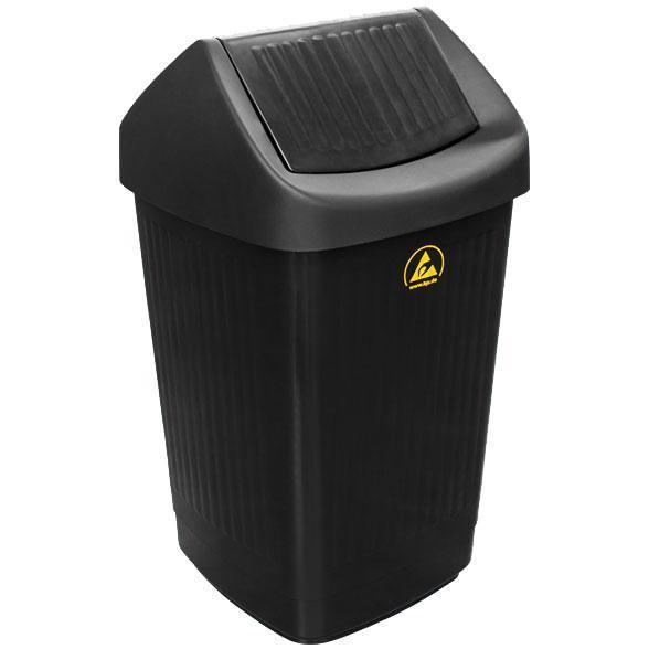 ESD-Abfallbehälter mit Schwingdeckel, 50 l