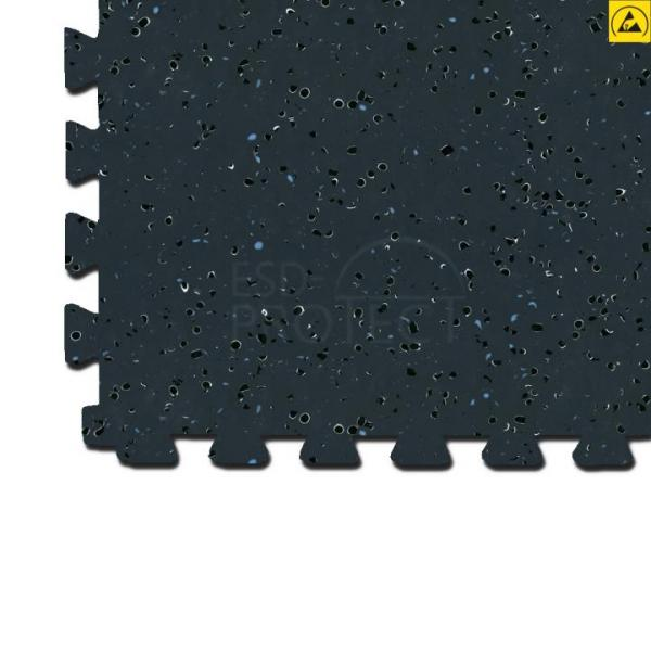 EP0502020 Gerflor ESD-Bodenfliese GTI EL5 CONNECT schwarz 0351