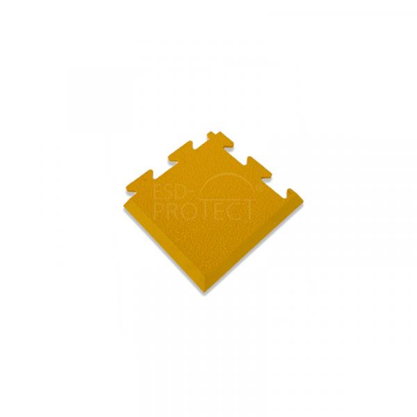 EP0502042 ESD-ProFloor PF 55 Eckstueck gelb, kombinierbar mit ESD Erdanschluss- und Bodenpuzzlefliesen