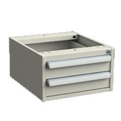 Schubladenblock, 2 Schubladen, 450x520x260 mm