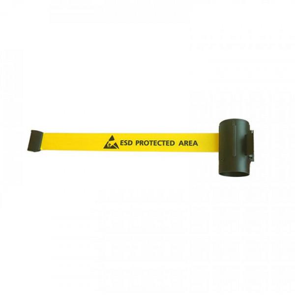 EP0605005 Wandkassette fuer EPA Absperrungen zur Wandverschraubung Polyester Gurtband gelb