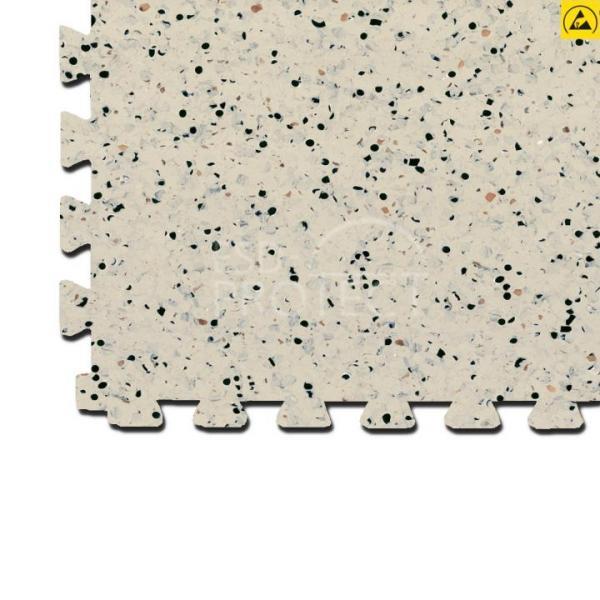 EP0502021 Gerflor ESD-Bodenfliese GTI EL5 CONNECT beige 0353 mit Schwalbenschwanz-Verzahnung