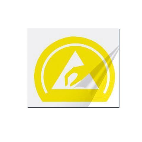 Trockentransferetikett, gelb-transparent