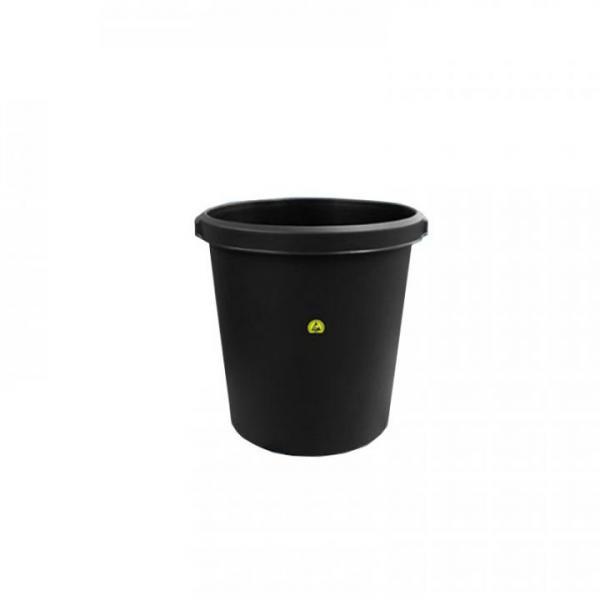 ESD-Abfallbehälter, rund, leitfähig, 18 l