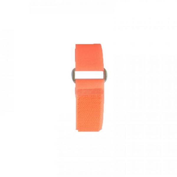 Klettband 70 cm, orange, Metallschnalle