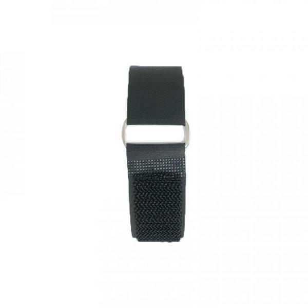 Klettband 50 cm, schwarz, Metallschnalle