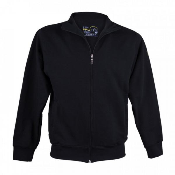 ESD-ProTEX Premium Sweatshirt-Jacke, schwarz
